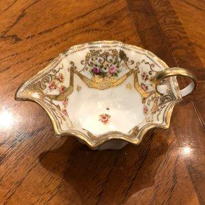 Darling! Vintage gold floral creamer.